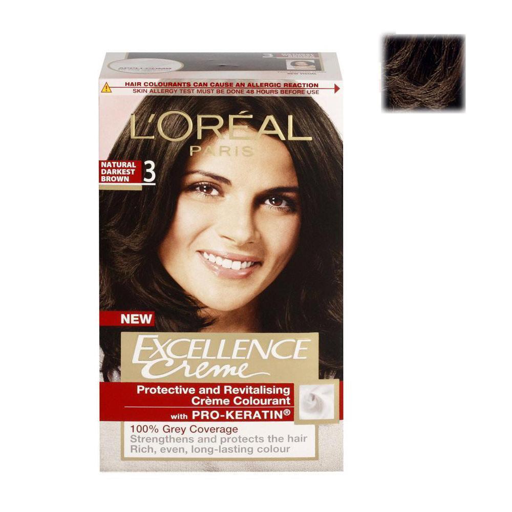 Loreal Paris Excellence Creme Hair Color Natural Darkest Brown
